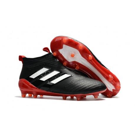 Chaussure de Foot Adidas ACE 17+ Purecontrol FG 2017 Noir Blanc Rouge
