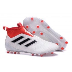 Chaussure Football Hommes Adidas ACE 17+ Purecontrol FG Champagne - Blanc Casse Noir Rouge
