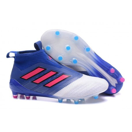 Chaussure Football Hommes Adidas ACE 17+ Purecontrol FG Champagne Bleu Rouge Blanc