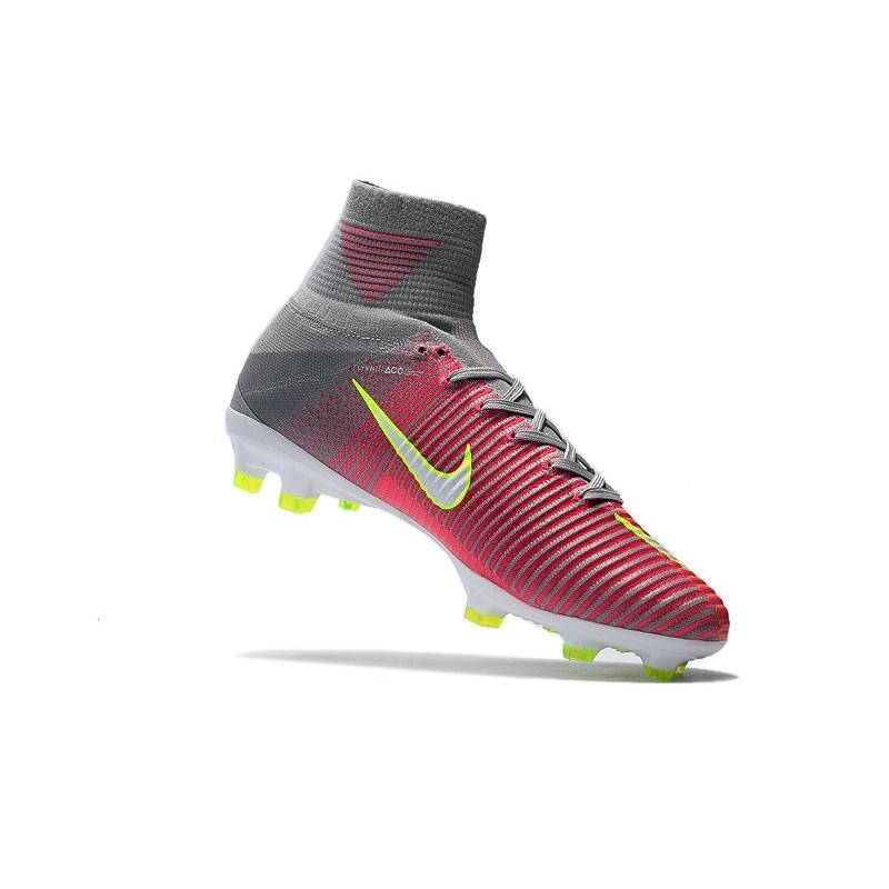 release date 4a983 accca ... Foot Nike Mercurial Superfly V FG Hyper Rose Blanc Gris Loup Zoom.  Précédent. Suivant