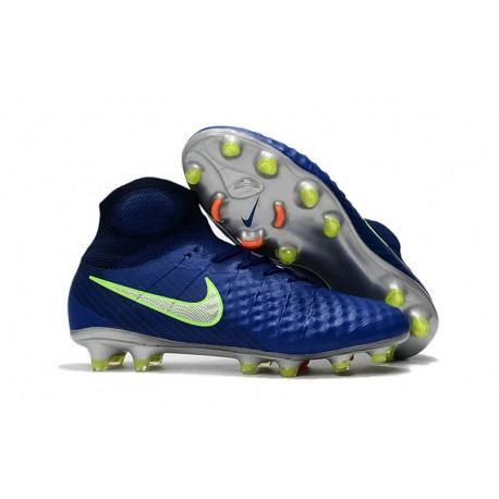 Crampons De Foot Nike Magista Obra 2 FG ACC Bleu Vert