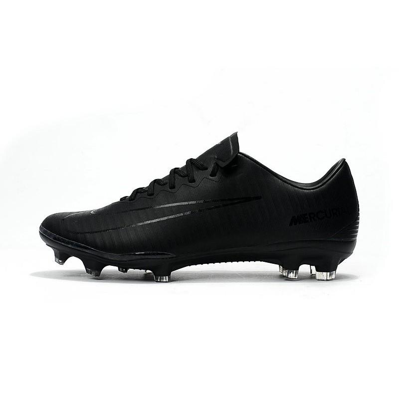 9bc532de368711 Nouveau Chaussures de Foot Nike Mercurial Vapor 11 FG Tout Noir Zoom.  Précédent. Suivant