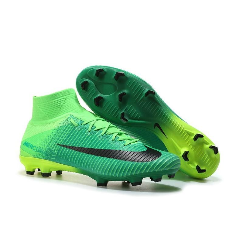 2017 chaussures de football nike mercurial superfly v fg noir vert. Black Bedroom Furniture Sets. Home Design Ideas