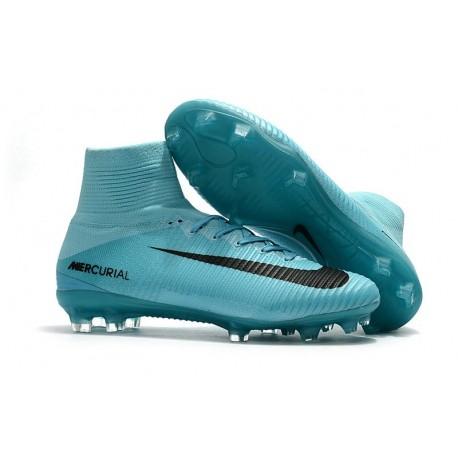 Chaussures Pas Bleu Mercurial V Nike Fg Foot De Cher Superfly Noir lFK1JTc