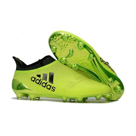 51a106e55 Adidas X 17+ Purespeed FG - Chaussures de Foot pour Hommes Vert Noir