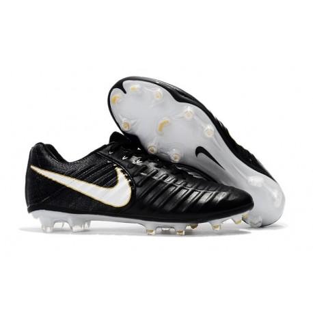 Chaussure de Football Nike Tiempo Legend FG - Noir Blanc