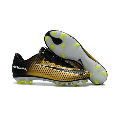 Chaussures de Foot Nike Mercurial Vapor XI FG Or Noir Blanc