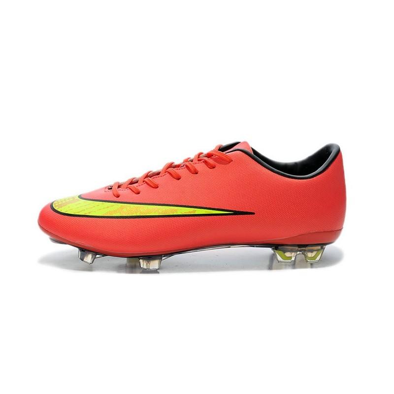 online store 29029 9af30 Nouvelles Crampons Nike Mercurial Vapor 10 Rouge Jaune