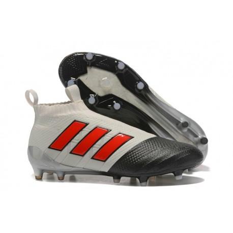 Nouvelles Crampons Foot Adidas Ace17+ Purecontrol FG/AG Gris Rouge Noir