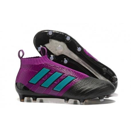 2017 Chaussures Adidas ACE17+ Purecontrol FG Violet Bleu Noir