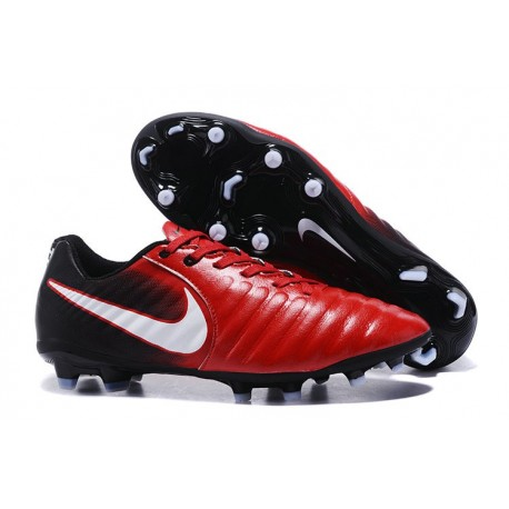 Nike Tiempo Legend VII FG - Chaussures de Football pour Hommes Rouge Noir Blanc