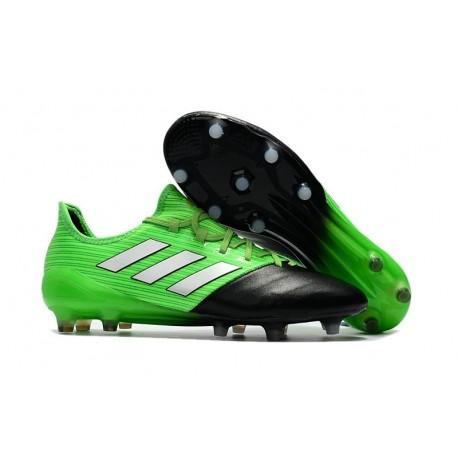 Nouvelles Chaussure Adidas Ace 17.1 FG Vert Solaire Blanc Noir