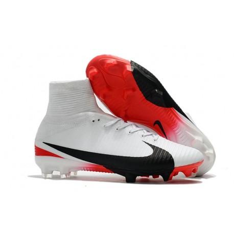 2017 Chaussures Nike Mercurial De Fg Football Superfly V Blanc 0vmwON8Pny