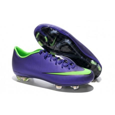 2015 Hommes Crampons Nike Mercurial Vapor X Vert Violet