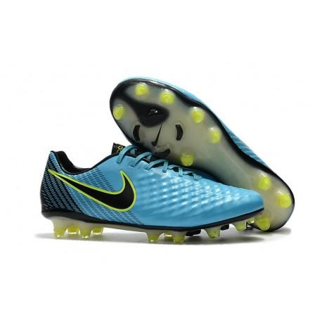 Chaussures De Football - Nike Magista Opus II FG - Bleu Volt Noir