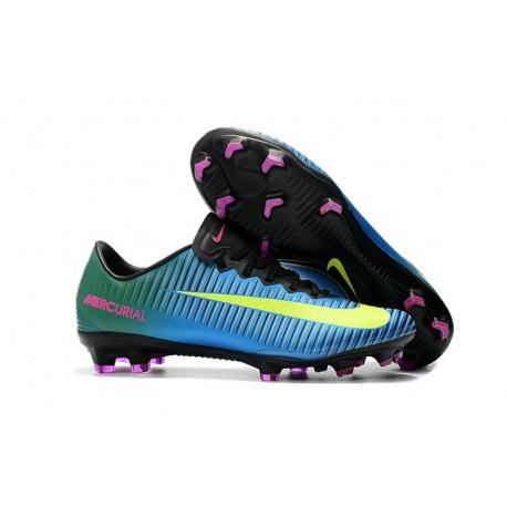 Chaussures de Foot Nike Mercurial Vapor XI FG Bleu Volt Rose