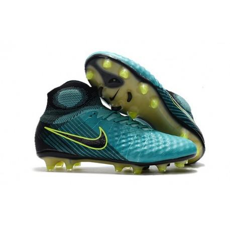 Chaussures de Football 2017 Nouveau Nike Magista Obra II FG Bleu Volt Noir