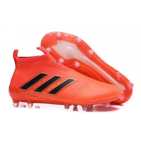 Nouvelles Crampons Foot Adidas Ace17+ Purecontrol FG/AG Orange Noir