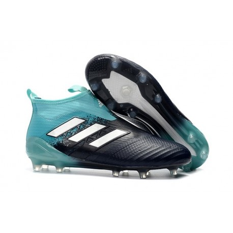 2017 Chaussures Adidas ACE17+ Purecontrol FG Energy Aqua Blanc Legend Ink