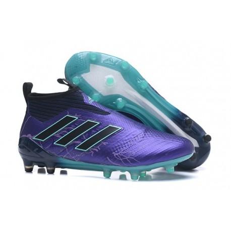 Nouvelles Crampons Foot Adidas Ace17+ Purecontrol FG/AG Legend Ink Noir Energy Aqua