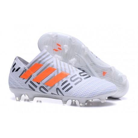 Crampons - Nouveau Adidas Nemeziz 17+ 360 Agility FG Blanc Orange Gris