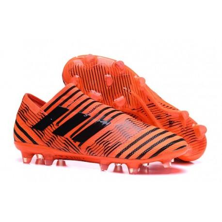 Crampons - Nouveau Adidas Nemeziz 17+ 360 Agility FG Orange Noir