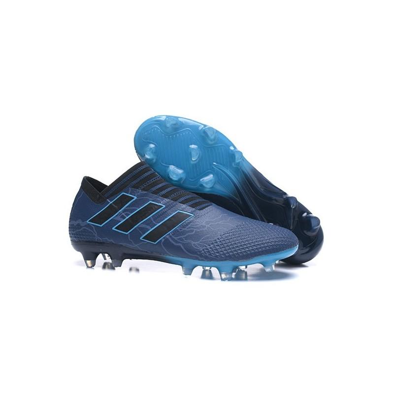 the best attitude 7e8d8 3330c Crampons - Nouveau Adidas Nemeziz 17+ 360 Agility FG Bleu Noir Zoom.  Précédent. Suivant