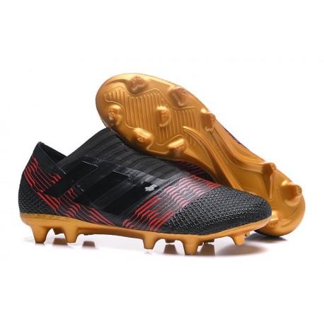 Chaussures de Football pour Hommes Adidas Nemeziz 17+ 360 Agility FG Noir Or Rouge