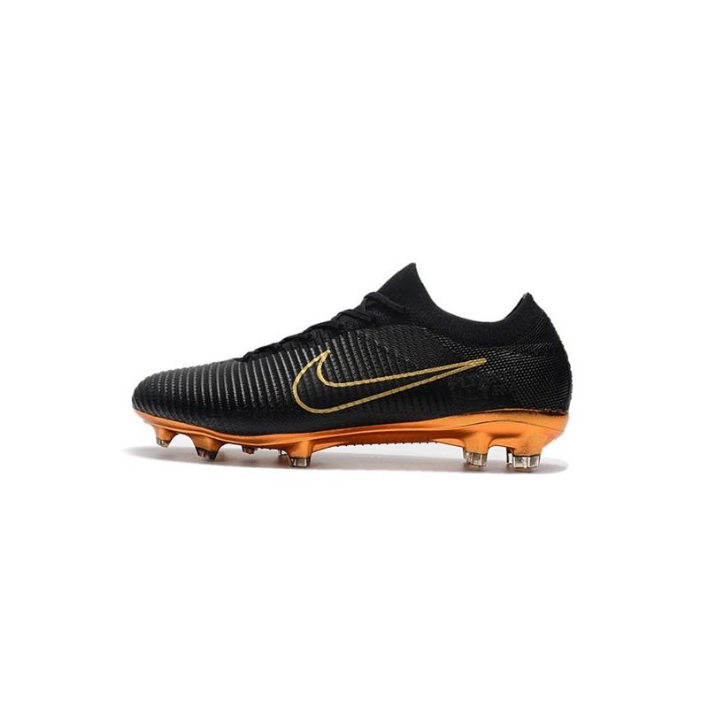 new styles f2db7 48500 Nike Mercurial Vapor Flyknit Ultra FG - Crampons Nouveau Nike Or Noir Zoom.  Précédent. Suivant