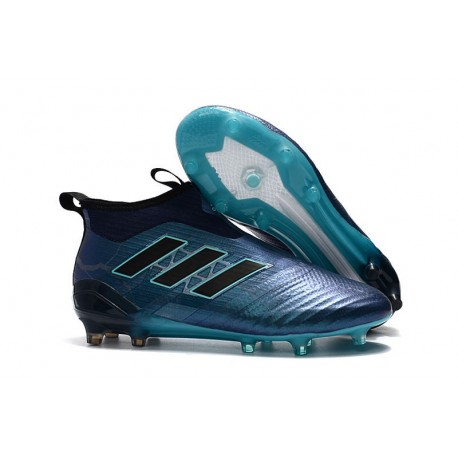 2017 Chaussures Adidas ACE17+ Purecontrol FG Bleu Noir