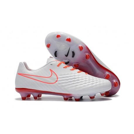 Nike Magista Opus II FG - Terrain Sec -Chaussures De Foot - Blanc Orange