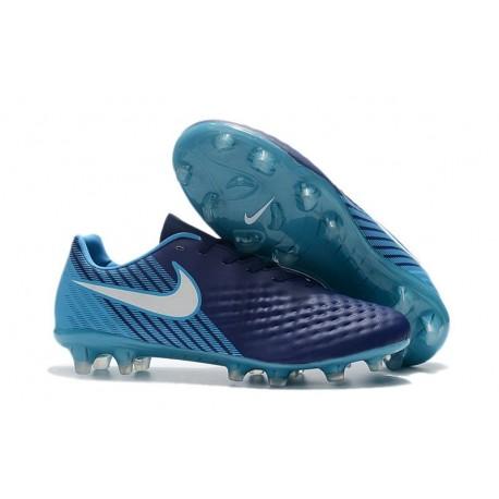 Chaussures De Foot Hommes - Nike Magista Opus II Fg Bleu Blanc