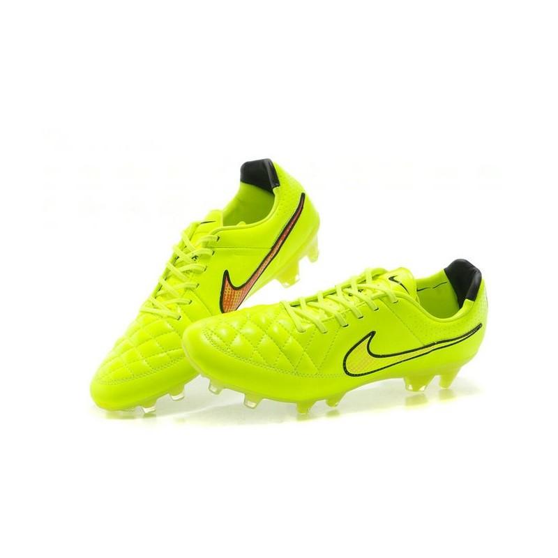 Nouveau Chaussure de Foot Vert Nike Tiempo Legend FG Vert Foot Hyper Punch Noir 089d79