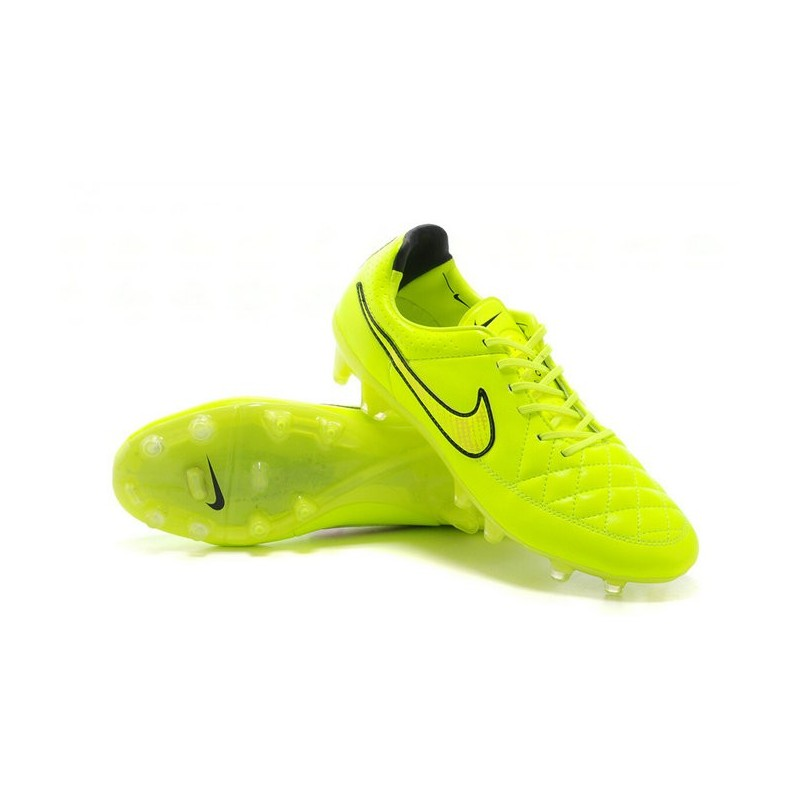 buy online cbb1e 298fb Nouveau Chaussure de Foot Nike Tiempo Legend FG Vert Hyper Punch Noir