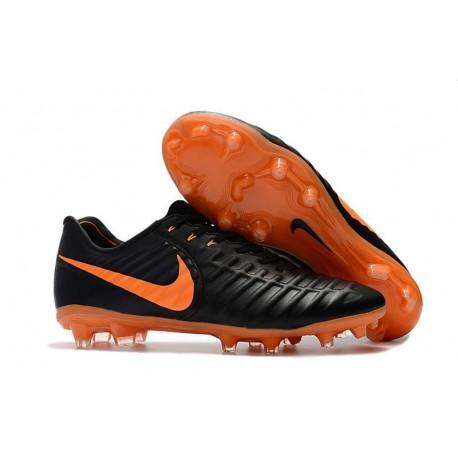 Nouvelles Crampons pour Hommes - Nike Tiempo Legend VII FG Noir Orange