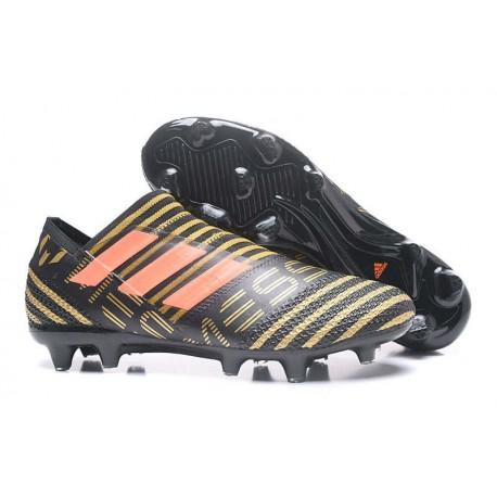 Chaussures de Football pour Hommes Adidas Nemeziz 17+ 360 Agility FG Noir Rouge Tactile Gold Metallic