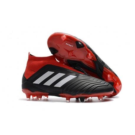 Chaussures de Football 2018 - adidas Predator 18+ FG Noir Rouge Blanc