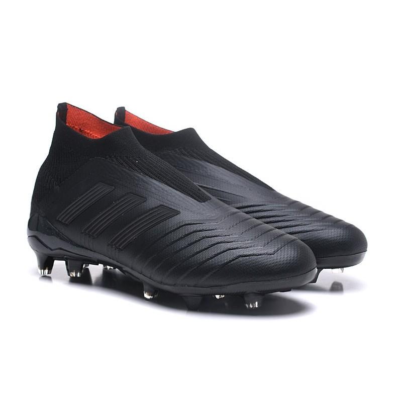 Chaussures de Foot Nouveaux adidas Predator 18+ FG Tout Noir