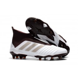 Chaussures de Football 2018 - adidas Predator 18+ FG Brun Blanc