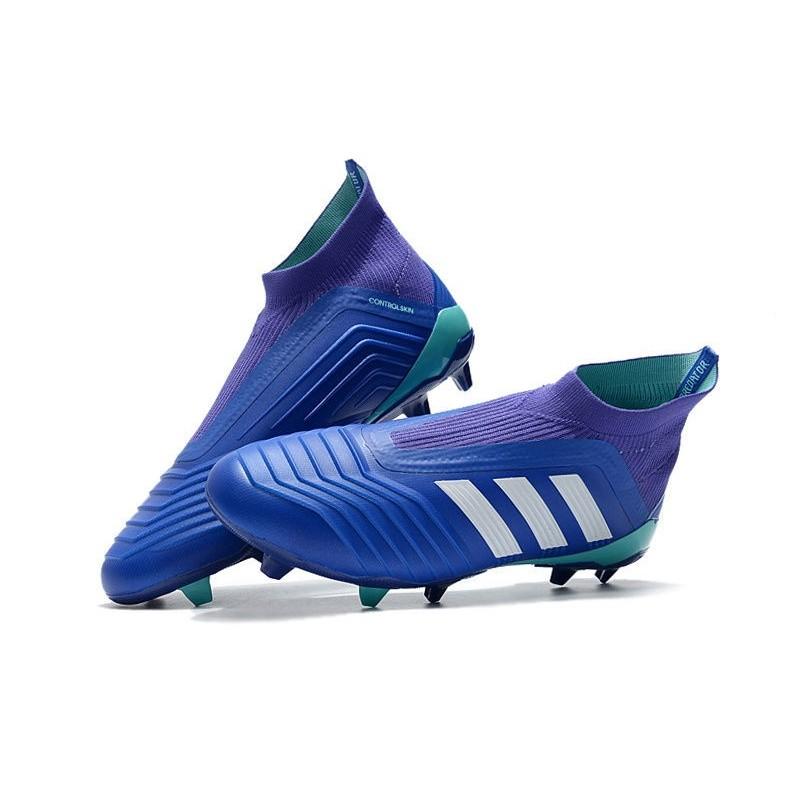 FG Bleu 18 adidas Football Predator de Blanc 2018 Chaussures q0wSx