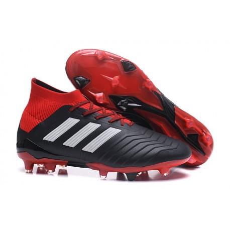 Chaussures de Football Pour Hommes - adidas Predator 18.1 FG Noir Rouge Blanc
