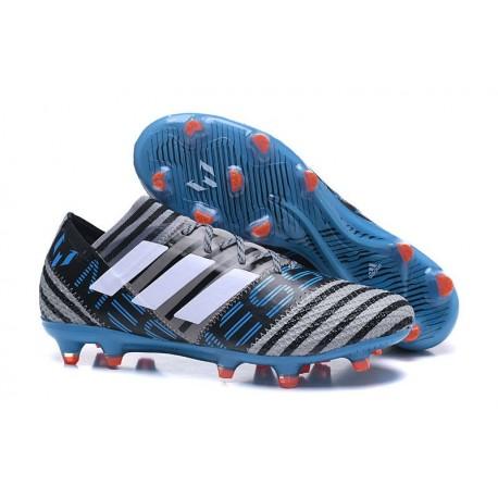Nouvelles Crampons Adidas - Nemeziz Messi 17.1 FG Gris Noir Bleu