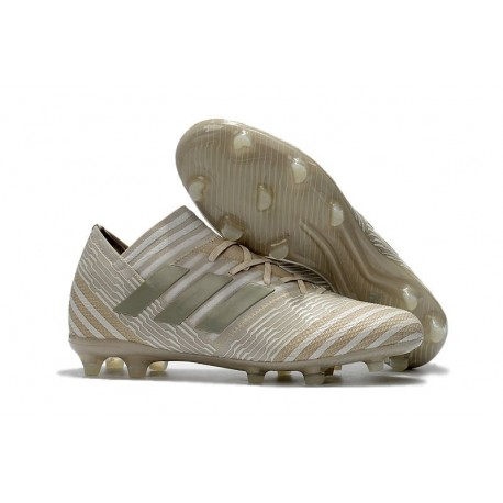 Nouvelles Crampons Adidas - Nemeziz Messi 17.1 FG Blanc Or