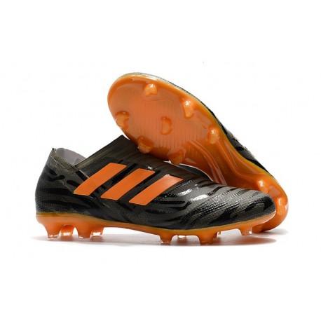 Chaussures de Football pour Hommes Adidas Nemeziz 17+ 360 Agility FG Noir Orange