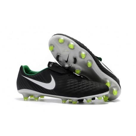 Nike Magista Opus II FG - Terrain Sec - Chaussures De Foot - Noir Blanc Vert Stade