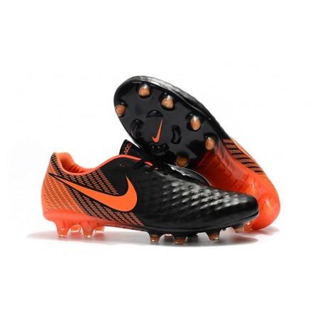 Chaussures De Foot Hommes - Nike Magista Opus II Fg Noir Blanc Rouge Université