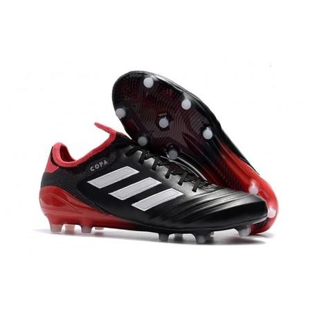 Chaussures de Football Pas Cher - Adidas Copa 18.1 FG Noir Blanc Rouge