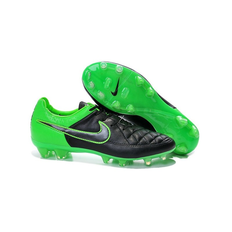 nike tiempo legend v fg terrain sec chaussures pas cher vert noir. Black Bedroom Furniture Sets. Home Design Ideas