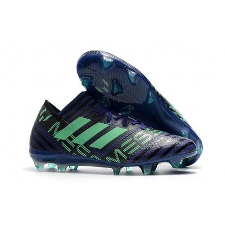 Nouvelles Crampons Adidas - Nemeziz Messi 17.1 FG Encre Vert Noir