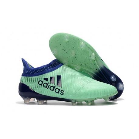 Adidas X 17+ Purespeed FG - Chaussures de Foot pour Hommes Vert Aero Encre Vert
